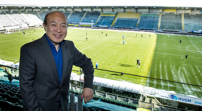 Wang Hui in het ADO-stadion