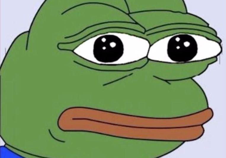 Pepe the Frog, een stripfiguur die populair is onder Trumop-aanhangers en gebruikt werd in de tweet aan Eichenwald. Beeld Wikimedia Commons