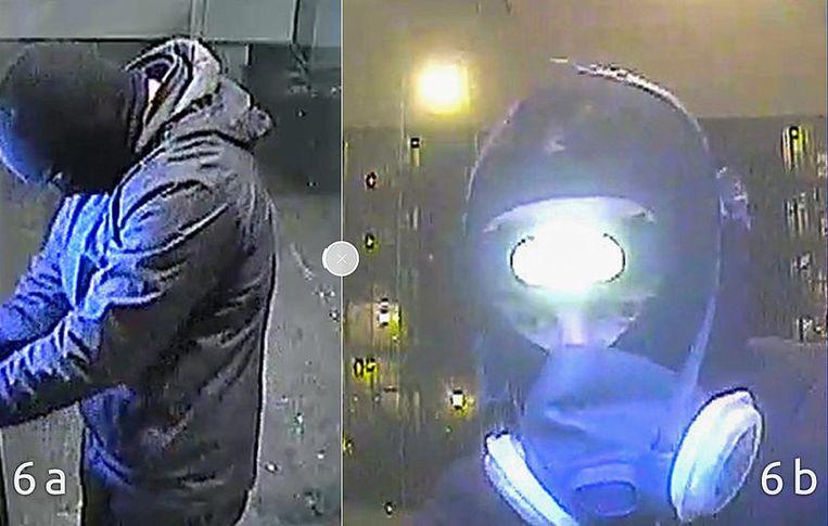 Daders van de plofkraak op 23 december. Beeld Politie Amsterdam