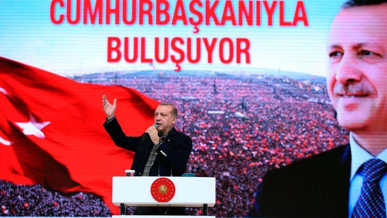 De Turkse president Recep Tayyip Erdogan. Beeld afp