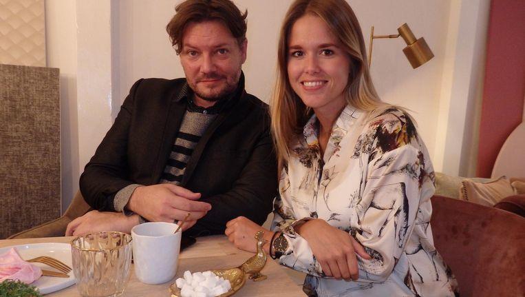 F: Jürgen Carper (Winq) en Kirsten Peterse (LVTPR), met suikerschaal. Carper: