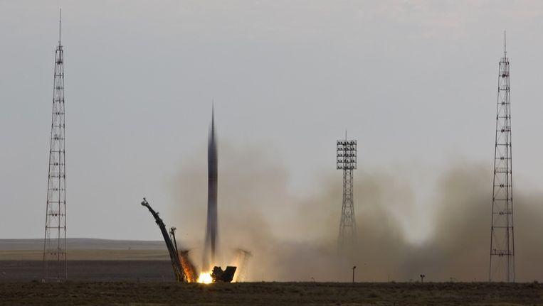 De lancering in Kazachstan Beeld reuters