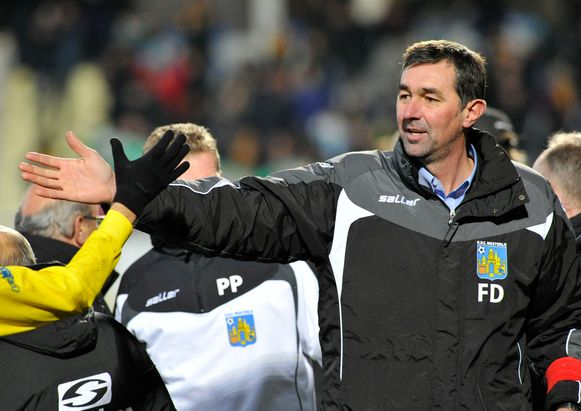 Frank Dauwen hier in het verleden als trainer van Westerlo.