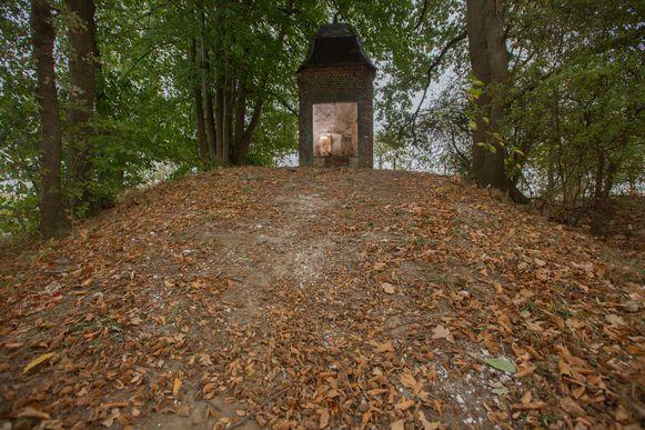 Op deze plaats stond de kunstinstallatie van Lien Stockx.