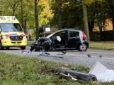 Automobiliste zwaargewond na frontale botsing met stadsbus