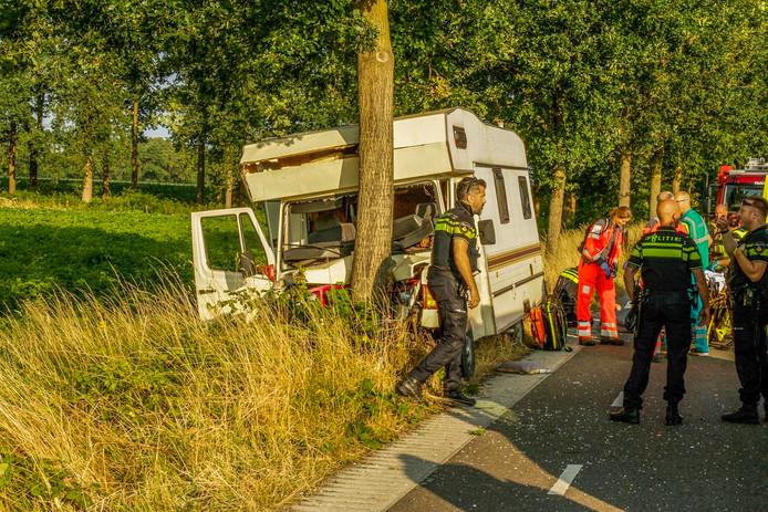 Ongeval met camper in Deurne.
