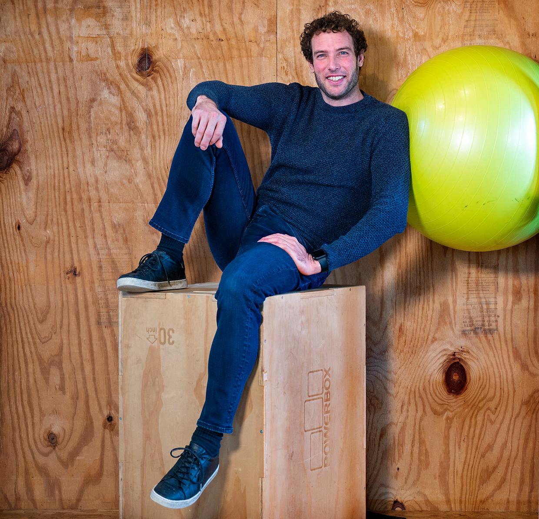 Adriaan van Rijsselberghe, personal trainer en broer van Dorian van Rijsselberghe de tweevoudig olympisch kampioen windsurfen in de RS:X klasse. Beeld Klaas Jan van der Weij