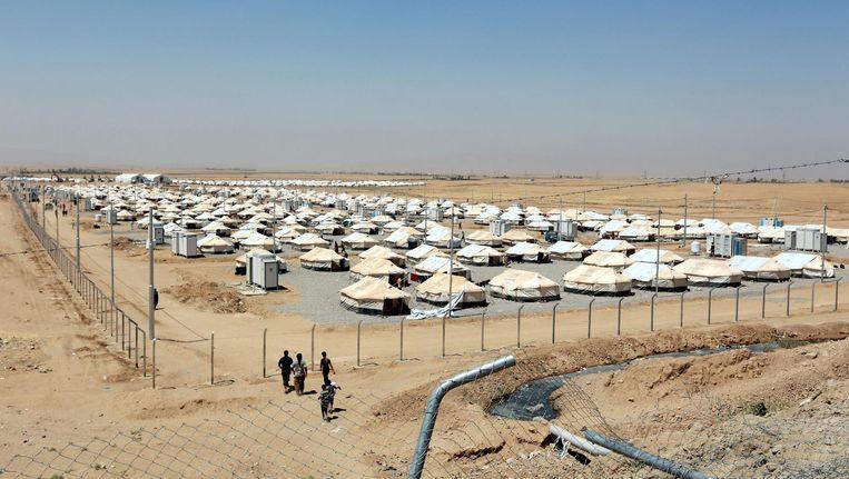 Vluchtelingenkamp buiten Mosul Beeld epa