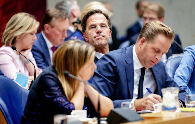 Het kabinet Rutte III in september 2019 bijeen voor de Algemene Politieke Beschouwingen.   Beeld ANP - Robin van Lonkhuijsen