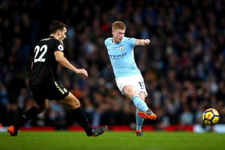 Kevin De Bruyne gaf drie assists tegen Leicester.