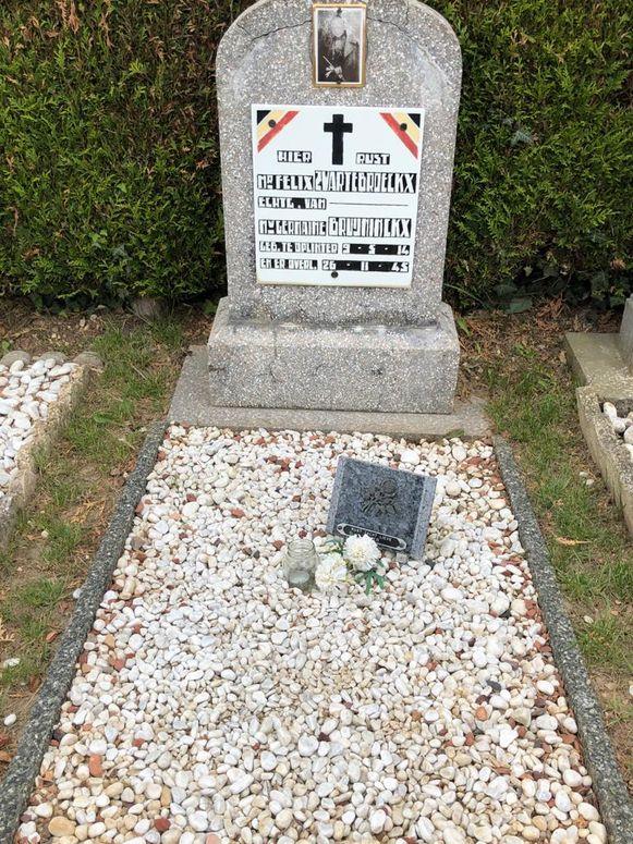 Het graf van zijn overgrootvader onderhoudt Kaylen altijd heel goed.