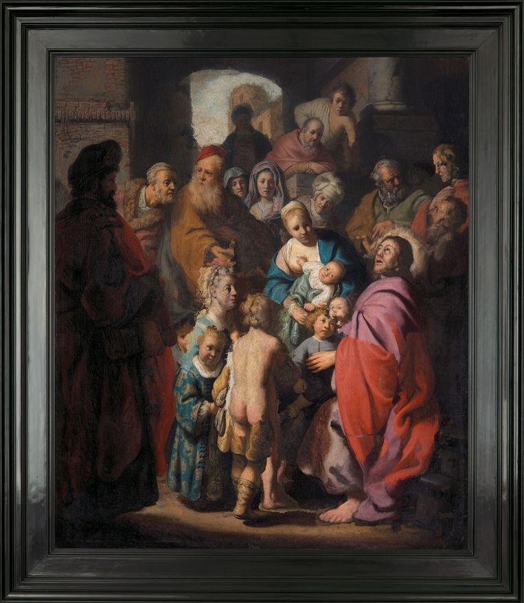 Rembrandt, Let the little children come to me