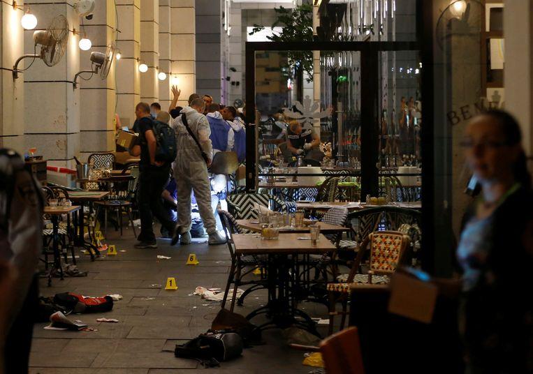 De plaats delict in Tel Aviv. Beeld reuters
