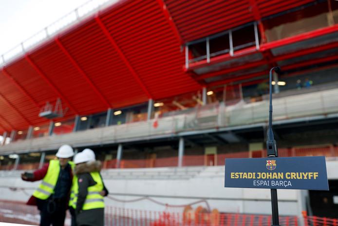 Het Estadi Johan Cruyff in aanbouw.