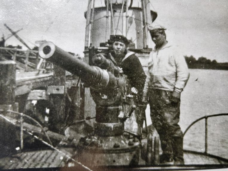 Het Duitse duikbootkanon op de UB-29.