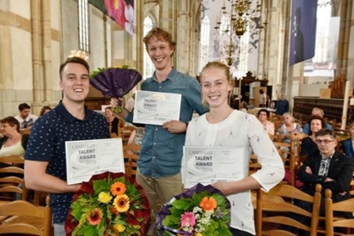 De winnaars van de Langhuis Talent Award 2016.