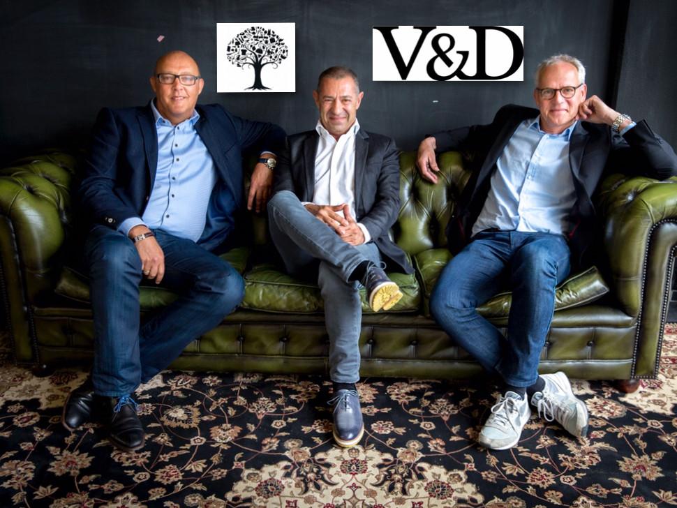 Jaco Scheffers, Roland Kahn en Ronald van Zetten, de ondernemers achter het nieuwe V&D.