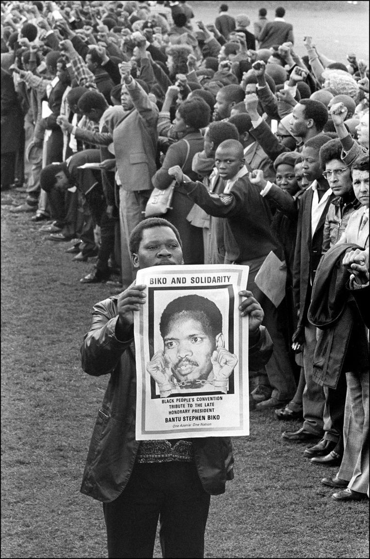 3 oktober 1977: de begravenis van Steve Biko in King William's Town, Zuid-Afrika. Beeld null