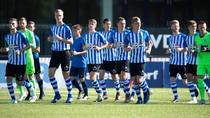 Foto van de eerste training van FC Eindhoven, eind vorige maand.