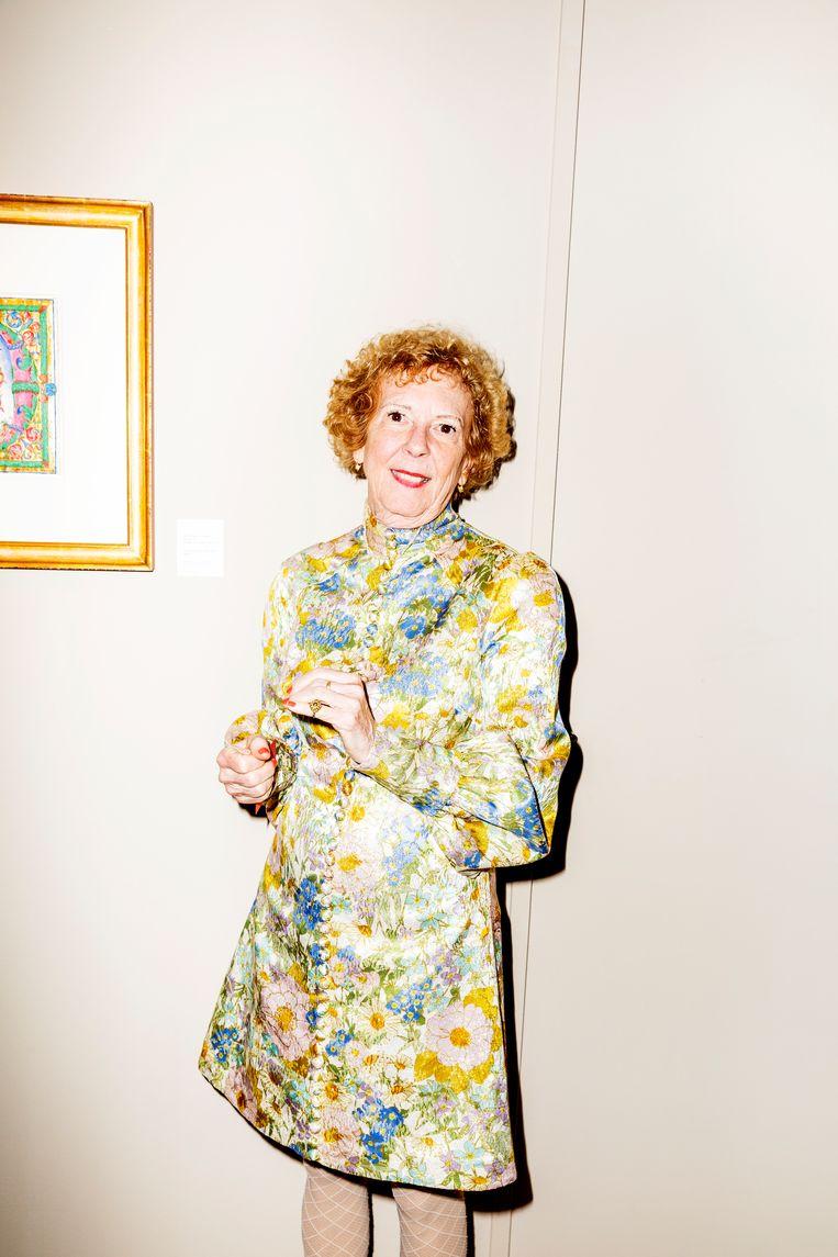 Sandra Hindman, hoogleraar kunstgeschiedenis en eigenaar van kunsthandel Les Enluminures in Parijs, New York en Chicago Beeld Marie Wanders