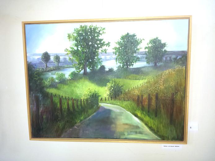 Gonny van den Heuvel-Nelissen schilderde dit landschap.