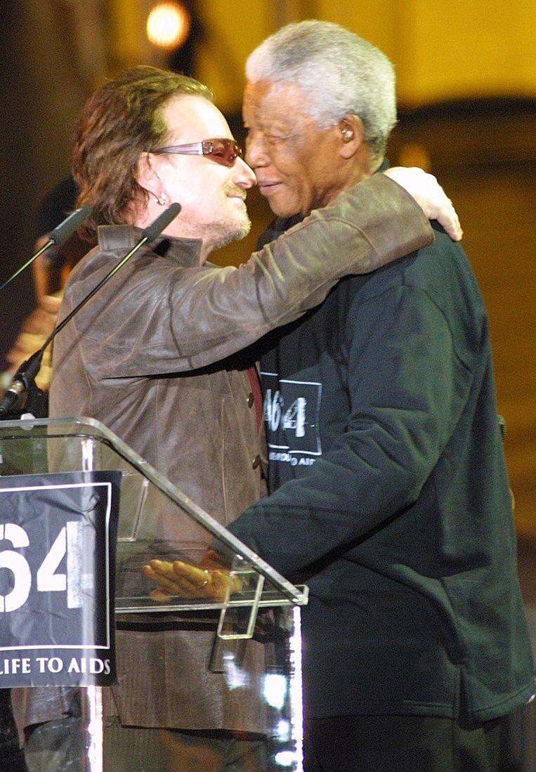Bono en Mandela Beeld epa