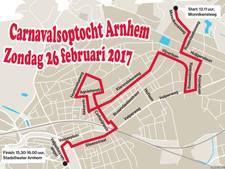Zondag zo'n 30 wagens in  carnavalsoptocht Arnhem