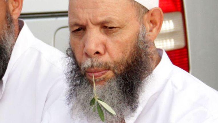 Imam Mohamed Al-Maghraoui tijdens een bijeenkomst in Marrakech. Beeld anp