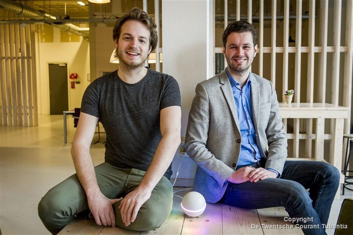 Stefan Witkamp en Emile Nijssen, oprichters van Athom