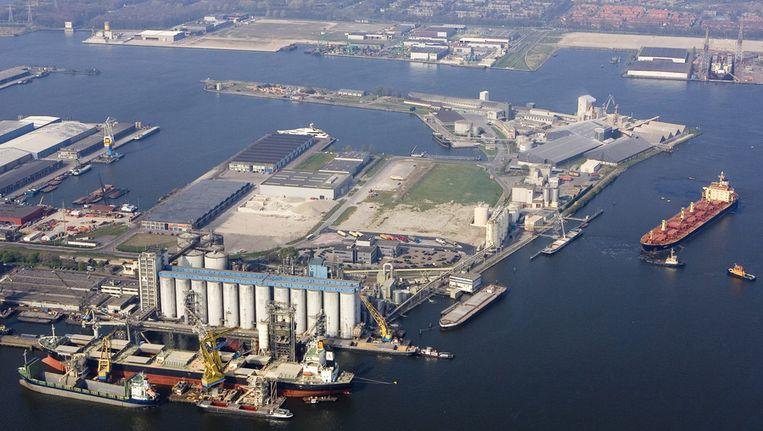 Luchtfoto van de Amsterdamse haven. © ANP Beeld