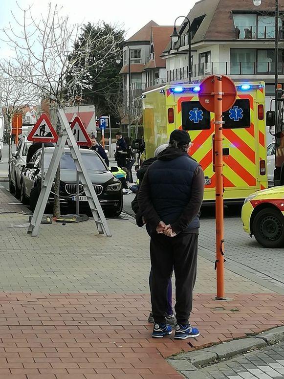 Het ongeval gebeurde langs de Kustlaan in Knokke