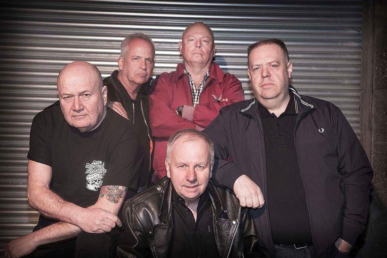 De mannen van Cock Sparrer. Beeld De Melkweg