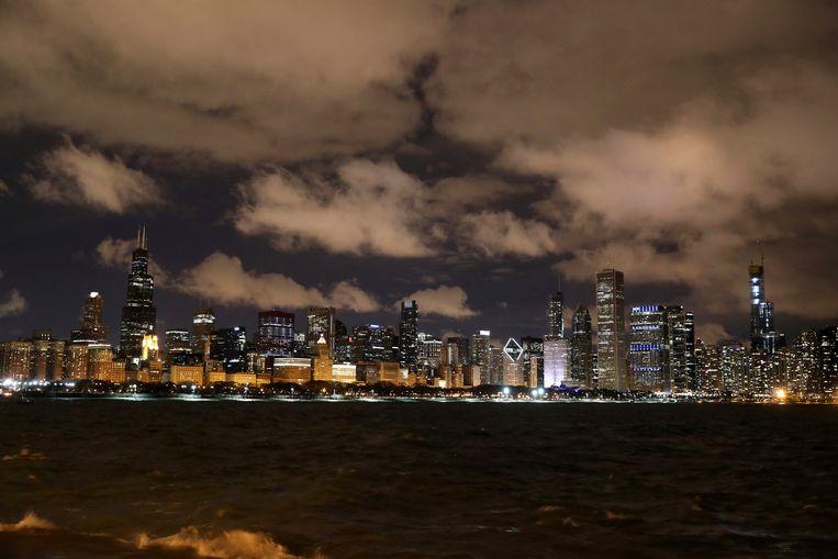 De skyline van de stad Chicago.