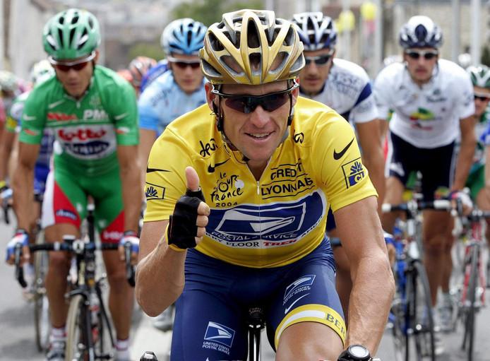 Lance Armstrong in de Tour van 2004.