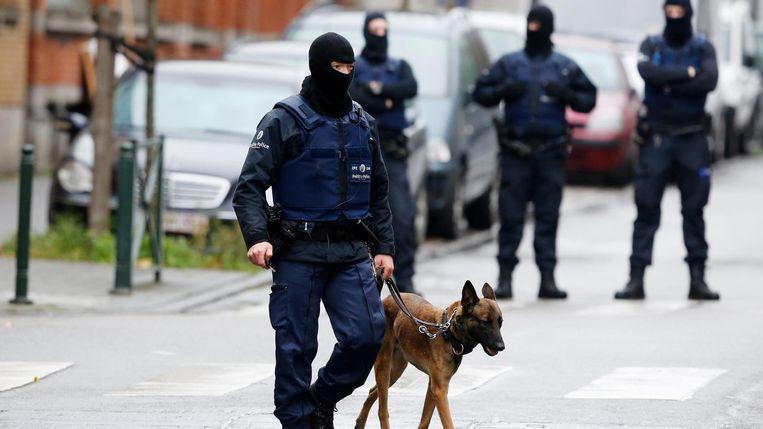 Politieacties in Molenbeek, afgelopen maandag Beeld anp