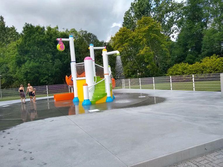 Het spraypark is één van de blikvangers van het nieuwe buitencomplex
