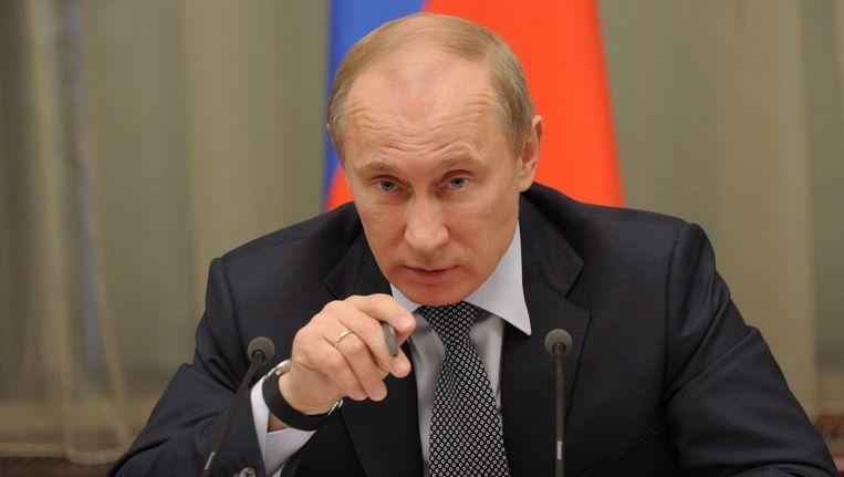 Vladimir Poetin wordt vandaag in het Kremlin in Moskou beëdigd als president van Rusland. Het is de derde ambtstermijn van de 59-jarige vroegere geheim agent. Beeld epa