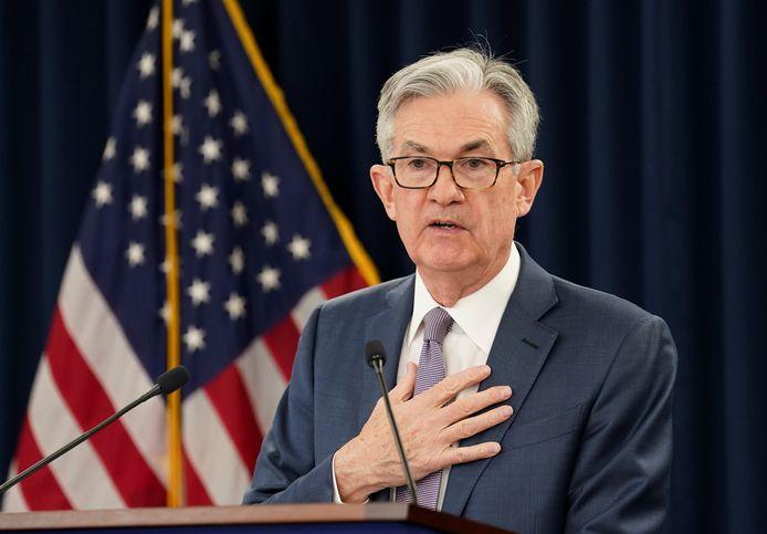 Jerome Powell, président de la Fed (archives, mars 2020)