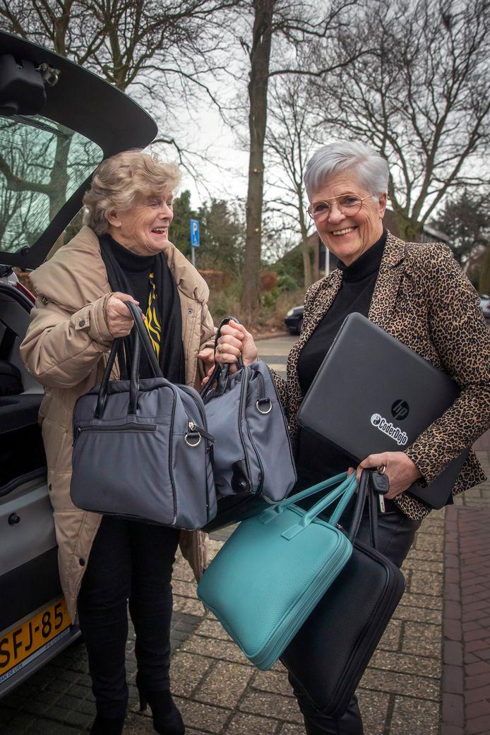 Francine Scholtes en Loes Voogd.