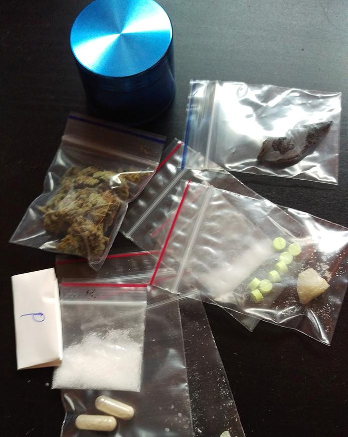 Verschillende soorten drugs.