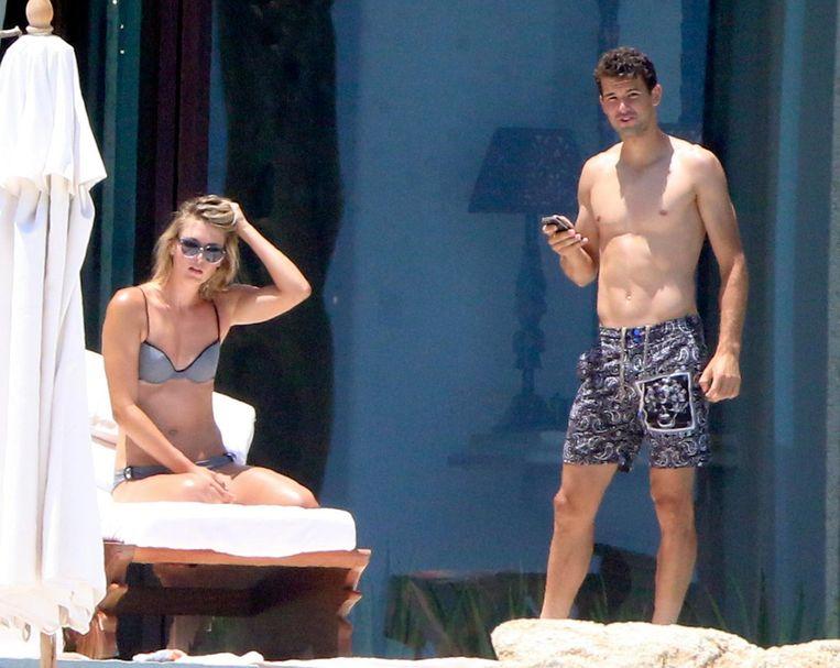 Maria Sharapova en Grigor Dimitrov tijdens een vakantie in Los Cabos, Mexico.