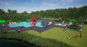 Een impressie van het nieuwe speelzwembad met meer ligruimte en een eigen horecapunt.