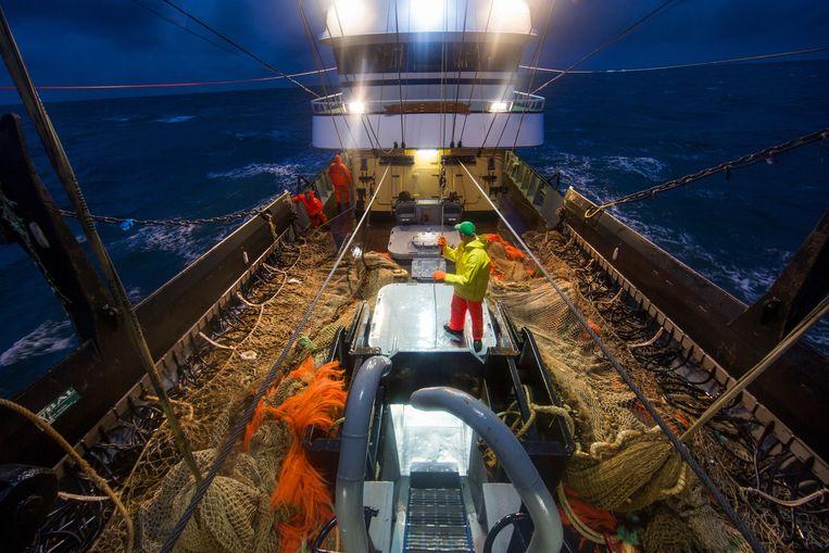 Het Texelse vissersschip TX1 Beeld Ton Koene