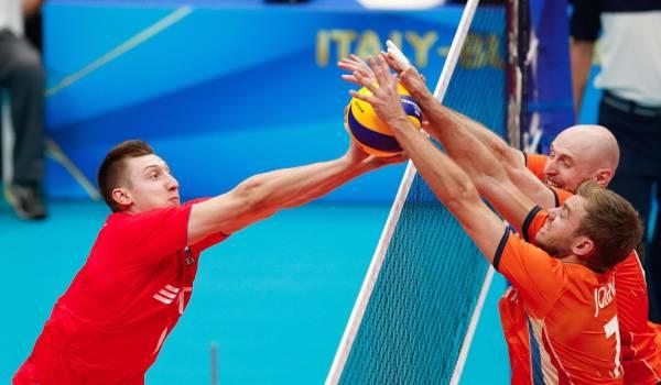 Sterk Rusland klopt de Oranje volleyballers