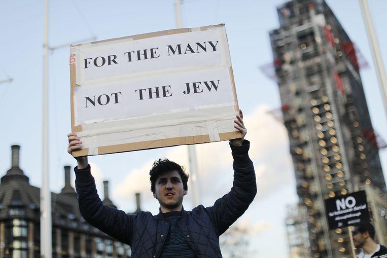 Een demonstratie, georganiseerd door de Campaign Against Anti-Semitism.