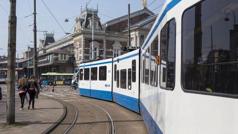 Tram 24 reed lange tijd een alternatieve route langs het Concertgebouw. Beeld Floris Lok