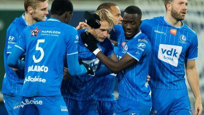 Klassegoals, twee rode kaarten en een gemiste strafschop: AA Gent klopt Standard na spektakelstuk