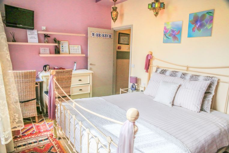 De slaapkamers in B&B Casablanca zien er prachtig uit.