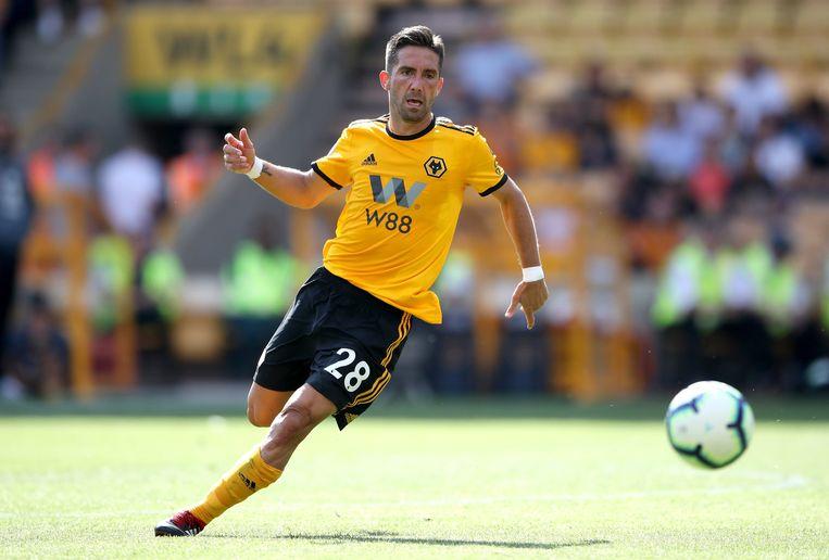 Jao Moutinho in actie in de voorbereiding voor Wolverhampton.