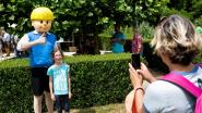 Kinderen en Jommeke baas in Normandpark